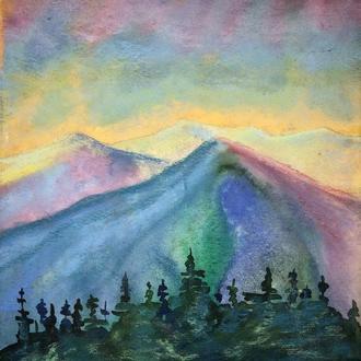 картина пейзаж акварель (№234)