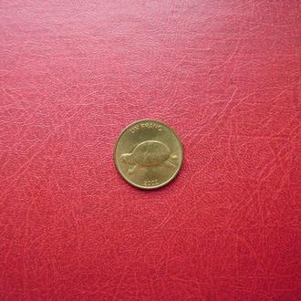 Конго ДРК 1 франк 2002 UNC Черепаха
