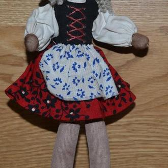 Кукла кучеряшка - ткань, 22см