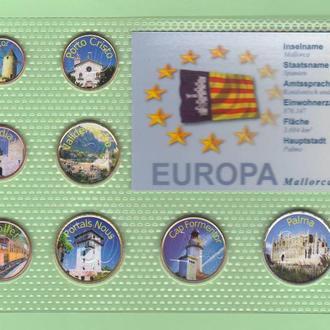Набор цветных евромонет ИСПАНИЯ - Mallorca - Palma da Mallorca - Пальма-де-Майорка RRR RAR