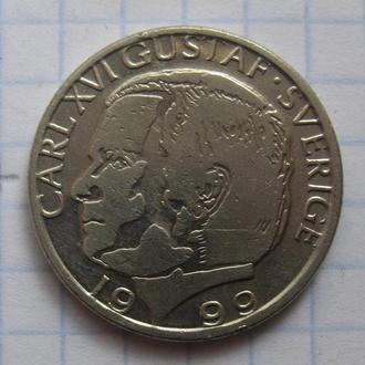 ШВЕЦИЯ, 1 крона 1999 года.