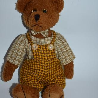 потрясающий шарнирный медведь в костюме Англия винтаж идеальное состояние