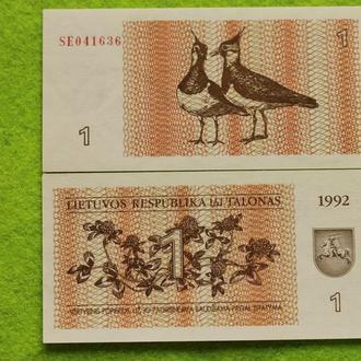 Литва 1 талон 1992 UNС