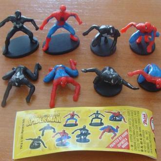 человек паук серия (8ф.)вкладыш новые