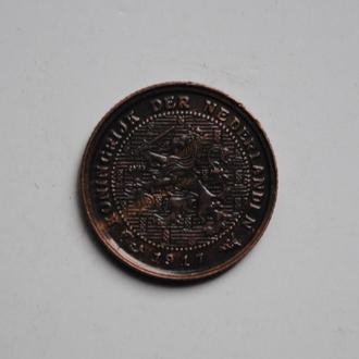Нидерланды 1/2 цента 1917 г., РЕДКАЯ, СОСТОЯНИЕ