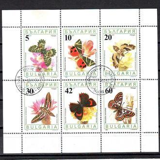 Болгария. 1990г. Бабочки