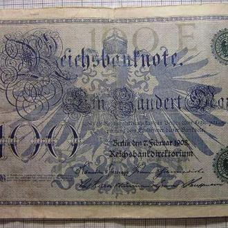 Германия 100 марок 1908