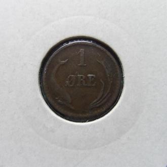 ДАНИЯ 1 эре 1891 год !!! монета в холдыре