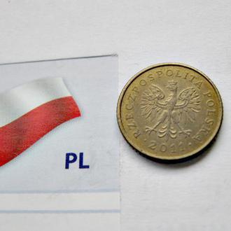 Польша 1 грош 2012 год Обиходная монета