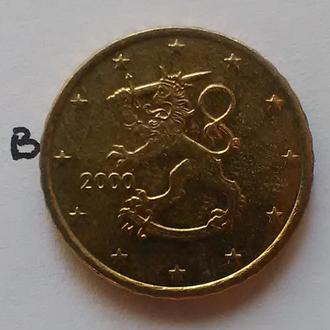 ФИНЛЯНДИЯ, 10 евроцентов 2000 года.