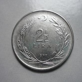 Турция 2 1/2 лиры 1977  (ВА)