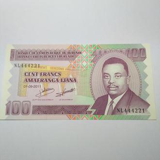 Бурунди, 100 франков, 2011, пресс, unc, оригинал