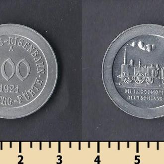 Нюрнберг-Фюрт (Бавария) 100 пфеннингов 1921
