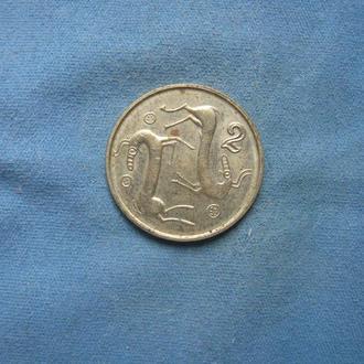 Кипр 2 цента 1998 год