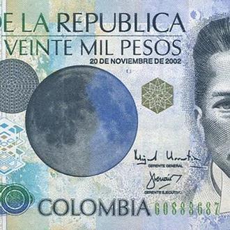 Колумбия 2002 20000 песо UNC