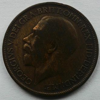 Англия 1/2 пенни 1921 год