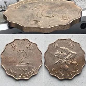 Гонконг 2 доллара, 1994г. Период Королева Елизавета II (1955 - 1992)