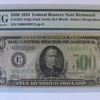 500 долларов США 1934 г