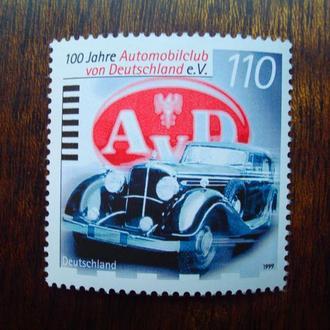 Германия.1999г. 100 лет Автоклубу AVD. Полная серия. MNH