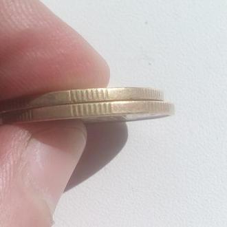 Монета України. 50 копійок 1992 року з крупним грутом 8 насічок