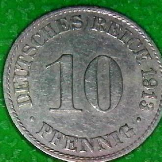 Германия 10 пфеннигов, 1913 г..-A