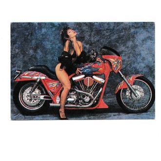 Календарик 1996 Мотоцикл, эротика