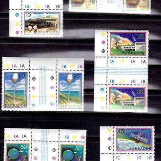 Космос  . Барбадос   1979 г MNH - г/пары