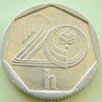 (А) Чехия 20 геллеров, 1993 -замок-