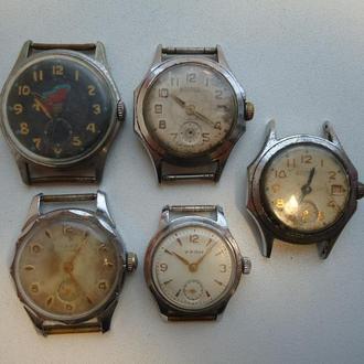 Часы Разные СССР 5 шт