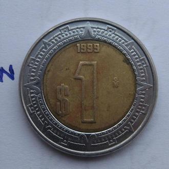 МЕКСИКА 1 песо 1999 г.