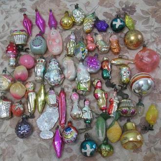 Cтарые Новогодние игрушеки СССР 55 штук