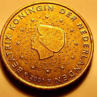 50 евро центов 2001 года, Нидерланды - а