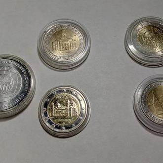 Коллекционные евро монеты  - 5шт.(2006-2015гг.)