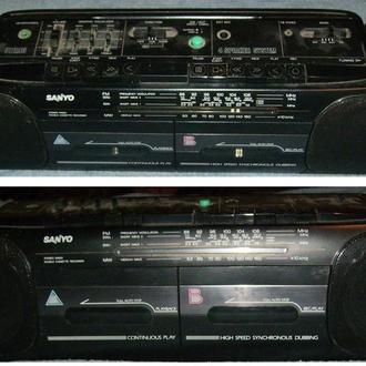 Двухкассетный аудиомагнитофон Sanyo M W719K