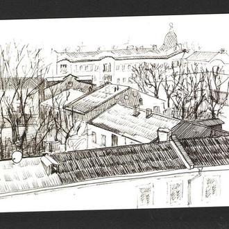 Авторская открытка, Крыши Одессы