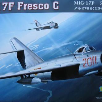 Сборная модель самолета МиГ-17Ф  Fresco C 1:48 Hobby Boss 80334