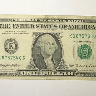 США USA 1 $ дол. 1995