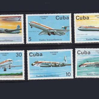 Авиация .   Куба 1988 г  MNH -