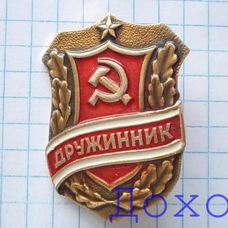 Значок Дружинник СССР 10