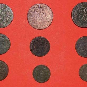 Монеты мира 9 шт