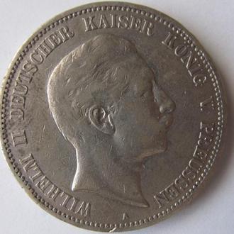 Монета 5 марок 1903 г.