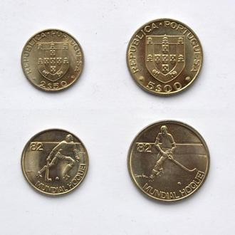 набор юбилейных монет Португалии - хоккей на роликах ЧМ 1982