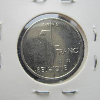монета 1 франк Бельгия 1998 французский тип
