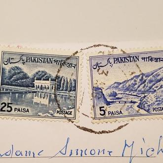 (А) 2-е Марки Пакистан 1961 -1962 год + Открытка!