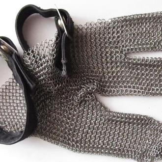 перчатка металлическая сетка на три пальца