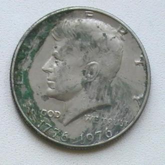 50 Центів 1976 р США 1/2 Доллара 1976 г 50 Центов 1976 г США