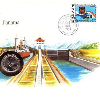 Панама 1984 г - ХМК - КПД СГ - ООН - С МОНЕТОЙ - флот