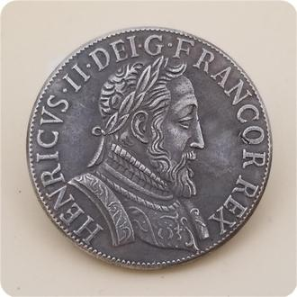 Французский Тестон 1554 года Генрих II