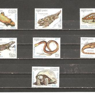 Фауна  Камбоджа (Кампучия) 1987г.  MNH  (см. опис.)
