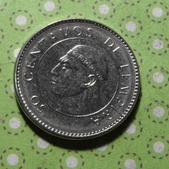 Гондурас 2007 год монета 50 сентаво !